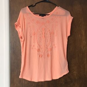 Tops - Sheer orange boho tunic